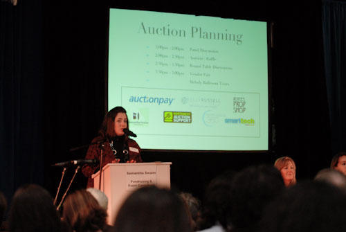 Samantha Swaim did a fantastic job facilitating the event! (Photo by Andie Petkus)