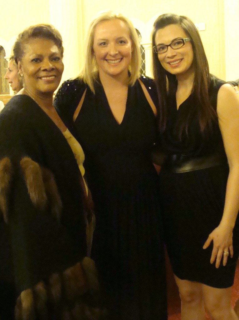 {Dionne Warwick, Erin Doherty Ward, and Johnna Wells}