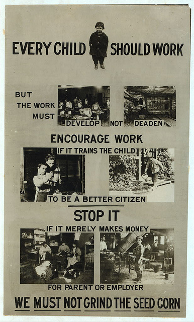 {Child Labor Law Promo Bill, by Lewis Hine}